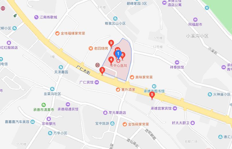 承德市中心医院地图