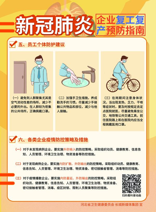 新冠肺炎企业复工复产预防指南3